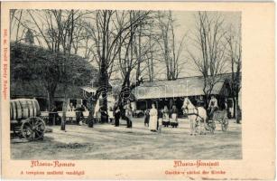Budapest II. Máriaremete, A templom melletti vendéglő, étterem, pincérek. Divald Károly 303. sz.