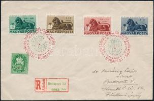 1946 (14. díjszabás) Bélyegjubileum sor helyi ajánlott FDC-n