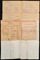 1916-1920 Ehrenthal Zoltán a cs. és kir. 28. tábori vadászzászlóalj kadétjának hadifogolytábori levelezése az orosz hadifogságból, néhány jegyzet, valamint a Szibériai Színházi Élet 3 száma (1918. 2-4. sz.), egy német nyelvű program füzet, valamint egy hadifogoly napilap, a Hírmondó 1918. július 20. száma.