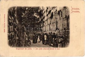 1909 Jerusalem, Klagemauer der Juden / Judaica, Western Wall of the Jews