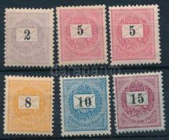 1898 6 db bélyeg