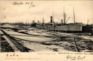 1907 Braila, Portul in timpul iernei / port, harbor in winter, Newcastle steamship. Edit. J. Gheorghiu & Co.