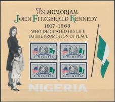 John F. Kennedy imperforated block, John F. Kennedy vágott blokk
