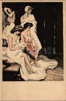 Gently erotic art postcard. Simplicissimus-Karte Serie VIII. No. 3. s: Reznicek