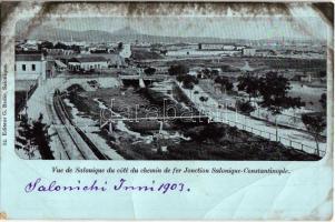 1903 Constantinople, Istanbul; cote du chemin de fer Jonction Salonique-Constantinople / Thessaloniki-Istanbul railway line (EB)