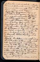 1916 Magyar katona által vezetett világháborús katonai napló. 1918 november 1-ig. Eugen Papp Inf. Reg. Hindenburg No. 69. csapategység 188 beírt oldal 5 rajzzal + 1 fénykép. Egészvászon kötésben