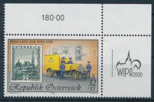 WIPA 2000, Vienna corner stamp, WIPA 2000, Bécs ívsarki bélyeg