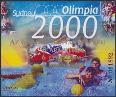 2000 Sydney Olimpia 2000 emlékív ,,Az olimpia magyar sikerei arany felülnyomattal, sorszám: 001892