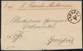 1871 Ex offo VENDÉGI (Gudlin 500 p) - FORRÓ -KASSA - EPERJES