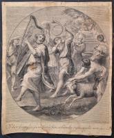 cca 1710 Jacob Frey Dominichin után.: Vilor fiam plusquam factus sum, et humilis ero in occulis meis. Rézmetszet. 31x38 cm