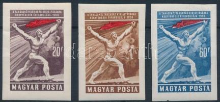 1959 Magyar Tanácsköztársaság (IV.) vágott sor (4.000) (törések)