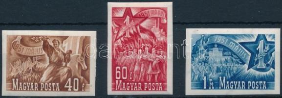 1951 Május 1. (II.) vágott sor (9.000) (40f betapadás)