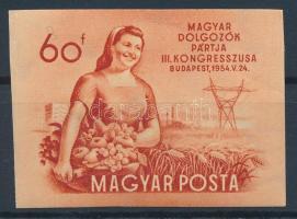 1954 MDP Kongresszus (II.) vágott bélyeg (8.000)