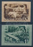 1952 Bányásznap (I.) vágott sor (7.000) (1Ft törés)