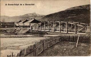 1914 Borsa (Máramaros), Borsa-folyó és híd / riverside, bridge