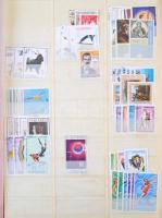 Albánia, Belgium, Bosznia Hercegovina tartalmas összeállítás maradvány jobb értékekkel 12 lapos berakóban A/4 (sok száz bélyeg) / Remains of a collection, a few hundred stamps with better values in A/4 stockbook