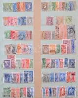 Gyűjteményrészletek szép klasszikus részekkel házi készítésű berakóban (Görögország, Fiume, Liechtenstein, Monaco, Luxemburg, Hollandia, San Marino etc.) / European lot in stockbook with classic stamps (Greece, Fiume etc.)