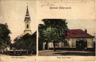 1928 Hédervár, Római katolikus templom, Varga József üzlete és saját kiadása (EK)