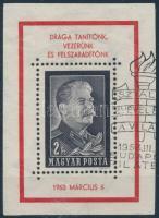 1953 Sztálin kézisajtós gyászblokk (80.000)