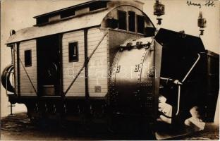 MÁV (Magyar Királyi Államvasutak) Hóhányógép 1. / Hungarian Royal State Railways rotary snowplow (railroad snow cleaning equipment). photo