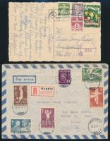Skandinávia 6 db küldemény külföldre a 30-as 40-es évekből / 6 covers, postcards sent abroad in the 1930-1940-es
