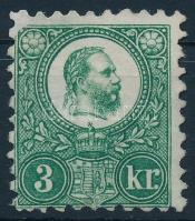 1871 Réznyomat 3kr (*27.500) (pótolt sarok /repaired corner)