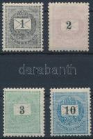 1898 1kr, 2kr, 3kr, 10kr (11.400)