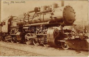 A Magyar Királyi Államvasutak (MÁV) Mallet-rendszerű 601. sor. mozdonya / Hungarian State Railways locomotive. photo (EK)