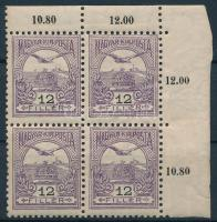 1904 Turul 12f ívsarki négyestömb