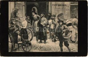 Typy Miejskie / Polish Jewish types. Judaica art postcard (EK)