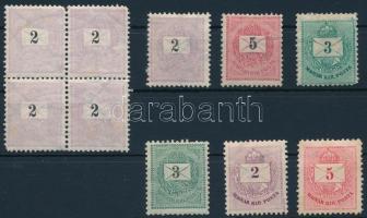 10 db Krajcáros bélyeg közte négyestömb