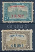 1918 Repülő posta sor (10.000) (rozsda / stain)