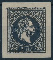 Magyar Posta Romániában 2sld fekete próbanyomat szürke papíron