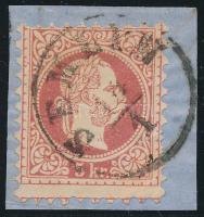 1867 5kr képbe fogazva SEMLIN