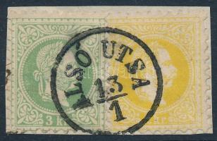 1867 2kr + 3kr ALSÓ UTSA