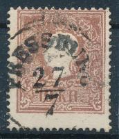 1858 10kr erős elfogazás PRESSBURG