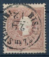 1858 10kr nagy festékfolttal, karácsonyi bélyegzéssel BISTRITZ in SIEBENB