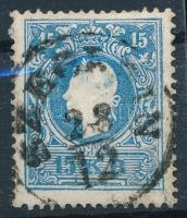 1858 15kr II nagy festékfoltokkal SZEGEDIN