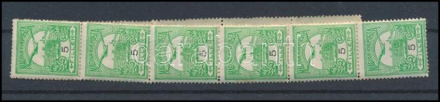 1909 Turul 5f tekercsbélyeg, 11-es csík (14.000+)