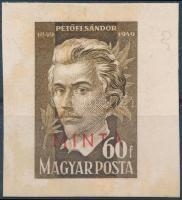 1949 Petőfi Sándor 60f MINTA bélyeg kartonon