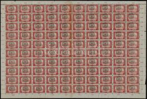 Nagyvárad 1919 Parlament 1K 100-as hajtott ív, Bodor vizsgálójellel