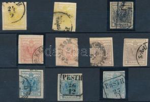 1850 Komplett sor + darabok csak magyar bélyegzésekkel (53.000)