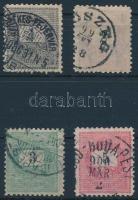 1899 1kr, 2kr, 3kr, 5kr 11 1/2 fogazás (30.000)