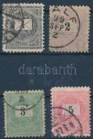 1898 1kr, 2kr, 3kr, 5kr 11 1/2 fogazás (20.000)