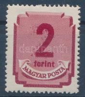 1950 Forint filléres portó 2Ft az értékszám kettős nyomatával és gépszínátnyomatával