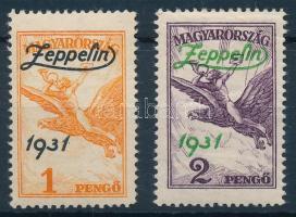 1931 Zeppelin sor, az 1P postatiszta