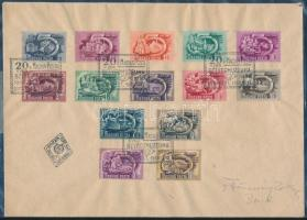 1950 Ötéves terv I. teljes sor FDC-n (45.000)