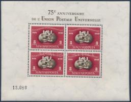 1950 UPU (I.) blokk kiváló állapotban (140.000)