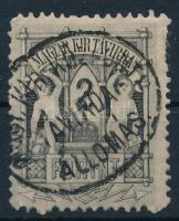1874 Távirda 2Ft ritka fogazással MAGY.KIR.KÖZPONTI TÁVIRDA ÁLLOMÁS centrált bélyegzéssel