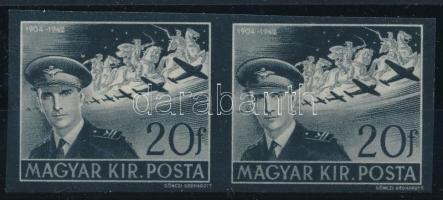 1942 Kormányzóhelyettesi gyászbélyeg vágott pár (40.000)